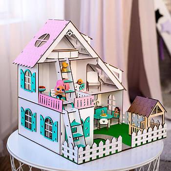"""Кукольный домик для Лол NestWood """"Летний"""" + подарок Мебель(9ед.)"""