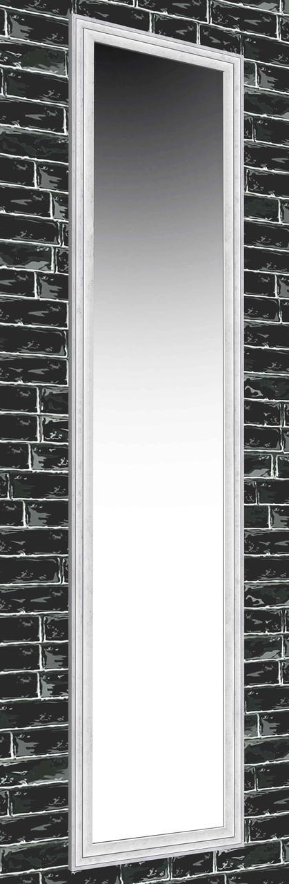 Зеркало настенное в раме Factura Silver small modern 45х167 см серебро