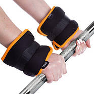 Утяжелители-манжеты для рук и ног FI-1303-3 (2 x 1,5кг) (нейлон,метал.шарики), фото 5