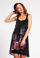 Женское платье шифоновое с принтом  миниDesigual, фото 1