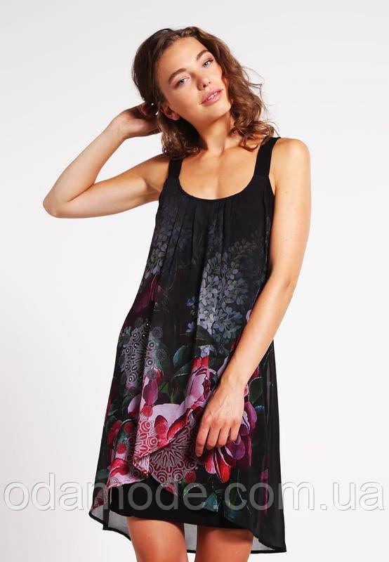Женское платье шифоновое с принтом  миниDesigual