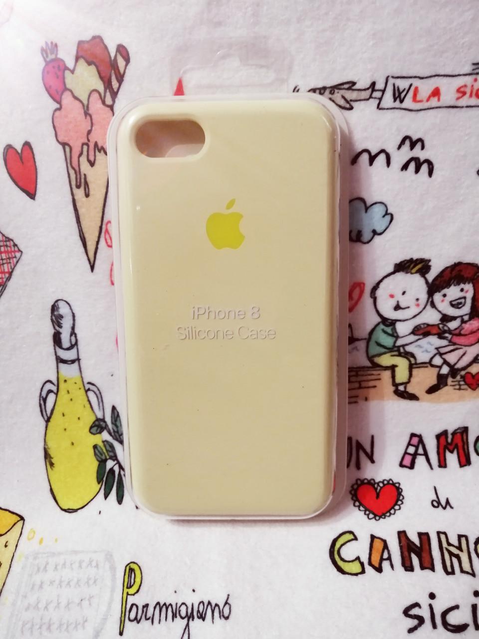 Силиконовый чехолApple Silicone CaseдляiPhone 7 / 8 - Color 1
