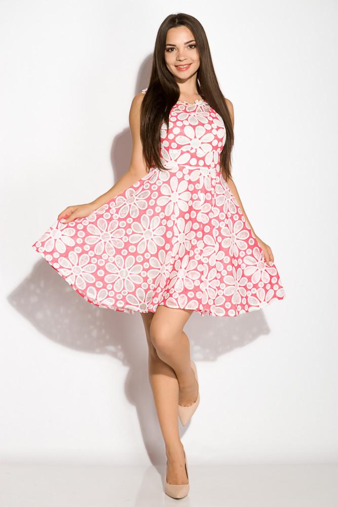 Платье женское с цветочным принтом 964K040 (Розовый)