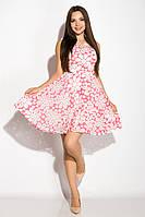 Платье женское с цветочным принтом 964K040 (Розовый), фото 1