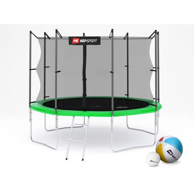 Батут с внутренней сеткой зеленый Hop-Sport 10ft (305cm) green 4 ноги(опоры)