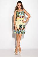 Платье женское 964K030 с тропическим принтом (Желтый), фото 1