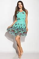 Легкое платье из шифона 964K034 (Бирюзовый), фото 1