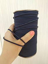 Синяя резинка шляпная 3 мм. Подходит для пошива масок.
