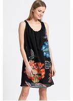 Женское платье- сарафан шифоновое с принтомDesigual, фото 1