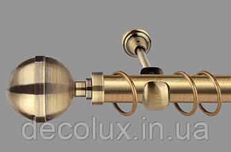 Карниз для штор однорядный металлический 25 мм, Калисто  Антик