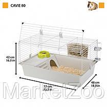 Клетка для кроликов и морских свинок Ferplast Cavie 80 77х48х42 см Серая, фото 2