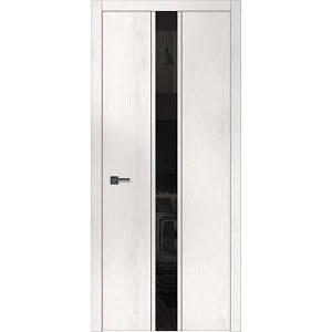 """Межкомнатные двери """"WakeWood"""" Forte 04 (широкая верт. полоса окраш. стекла или зеркала + молдинги)"""