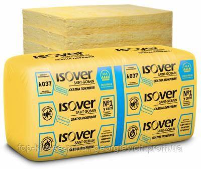 Минеральная вата ISOVER Скатная кровля 50 мм (610х1170 мм) 14,27 м2