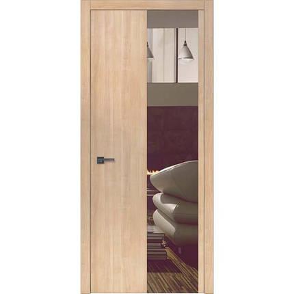 "Межкомнатные двери ""WakeWood"" Forte 05 (верт. полоса окраш. стекла или зеркала), фото 2"