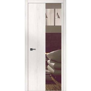 """Межкомнатные двери """"WakeWood"""" Forte 05 (верт. полоса окраш. стекла или зеркала)"""