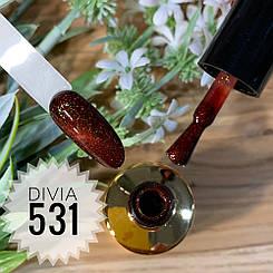 Divia Гель-лак для нігтів Cat's Eye Di500 №531 (Теракотовий Вибух)