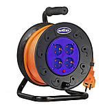 Удлинитель на катушке 25м  с сечением провода 3х1,5 мм² и термозащитой SVITTEX, фото 2