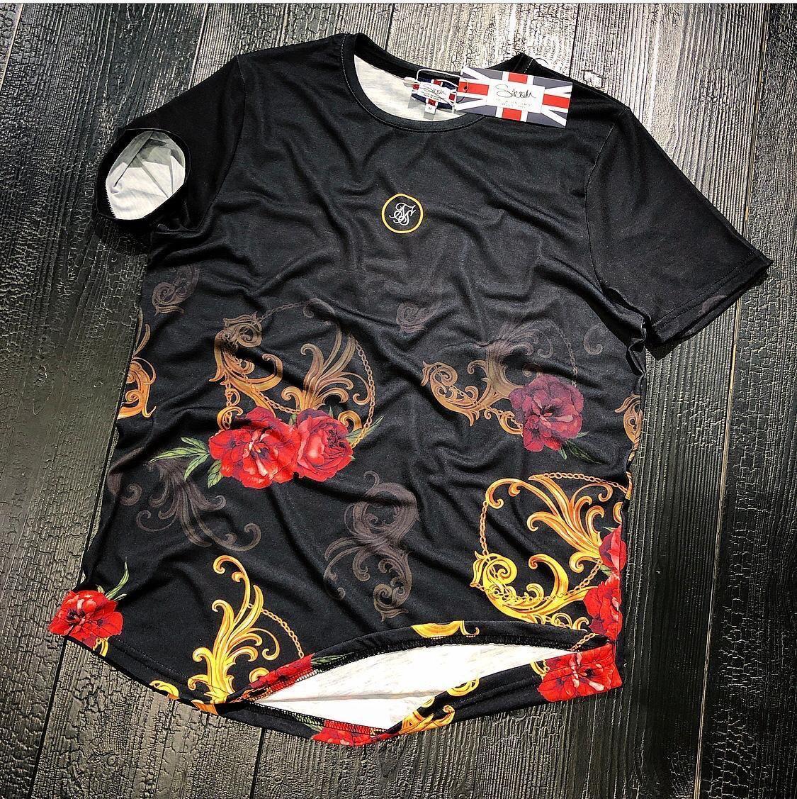 Мужская футболка Sik Silk M072 черная