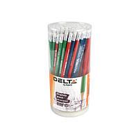 Олівець графітний з гумкою HB у тубі Delta (100)