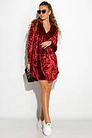 Платье женское велюровое 121P012 (Марсала), фото 1