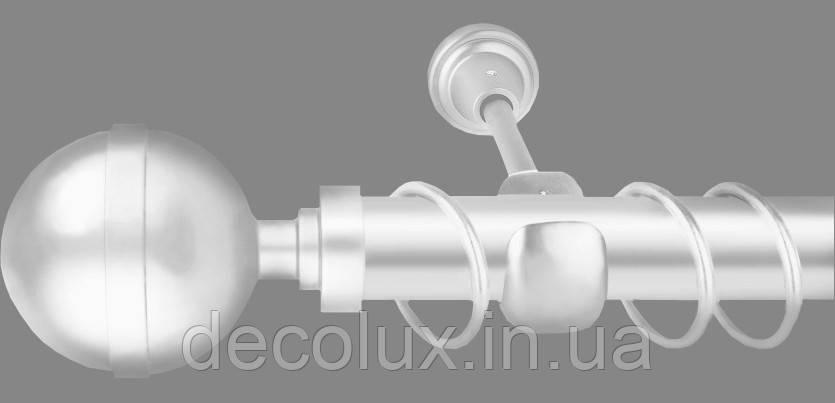Карниз для штор однорядний металевий 25 мм, Калісто Білий