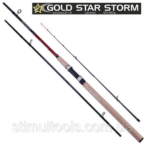 Спінінг короповий піновий фідер Gold star storm 3.6 м, 60-180 м, 2+3 до