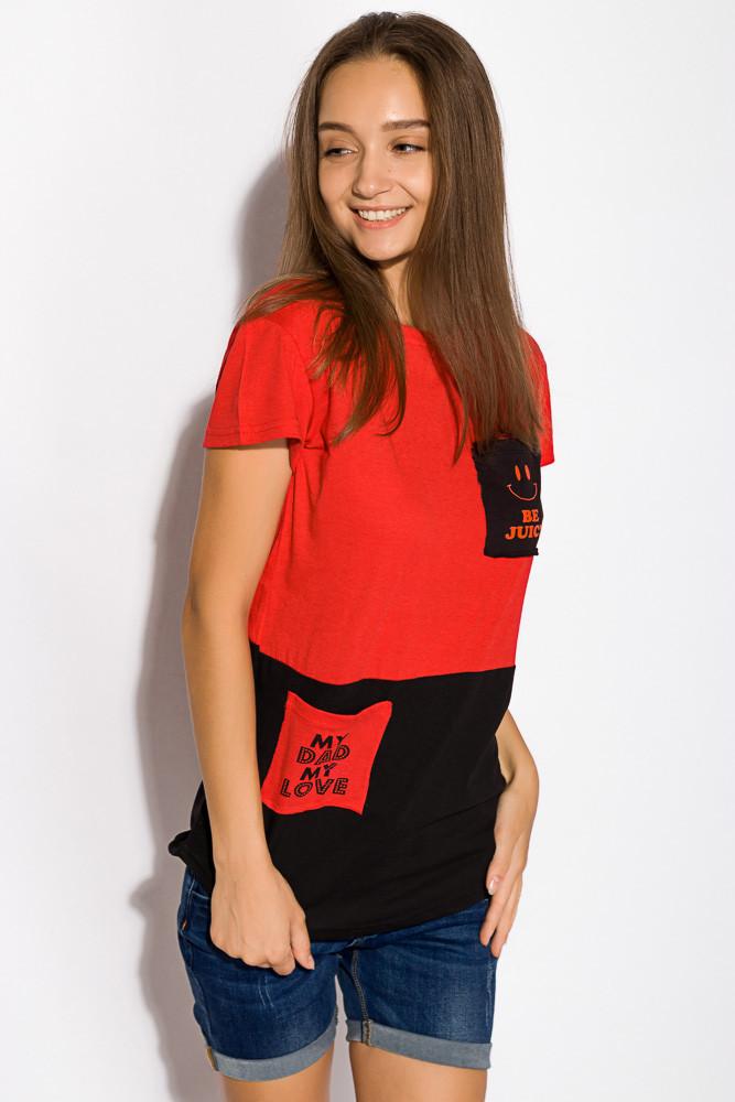 Футболка женская 317F055 (Красный)