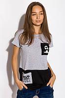 Футболка женская 317F072 (Светло-серый), фото 1