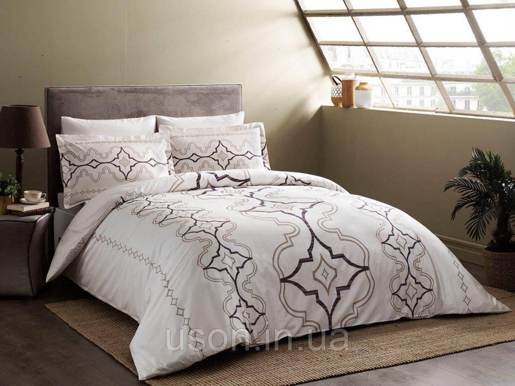 Комплект постельного белья сатин delux tac евро размер GINZA Murdum