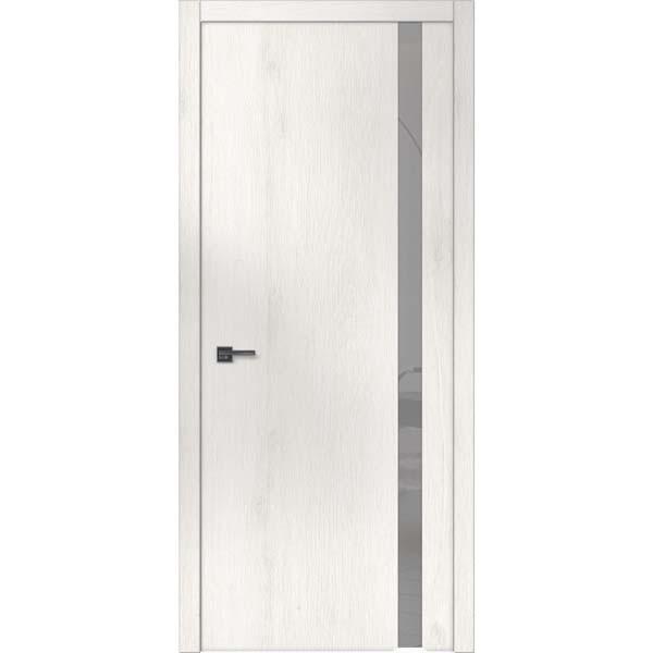 """Межкомнатные двери """"WakeWood"""" Forte plus 02 (одно стекло на просвет. Сатин с непетлевой стороны)"""