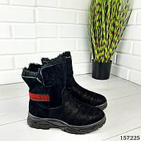 """Ботинки женские зимние черные """"Inkore"""" эко замша, Зимние ботинки. Обувь женская. Обувь зимняя"""