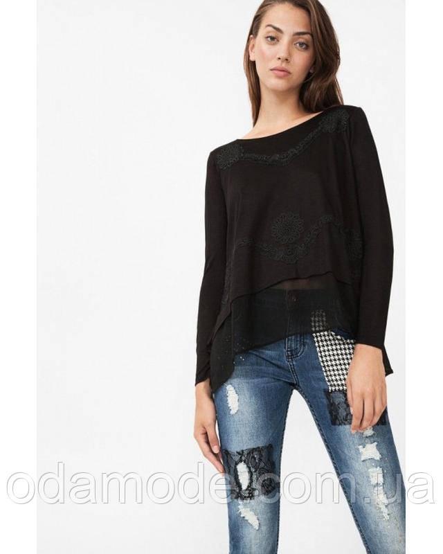 Блуза женская летняя чёрнаяDesigual