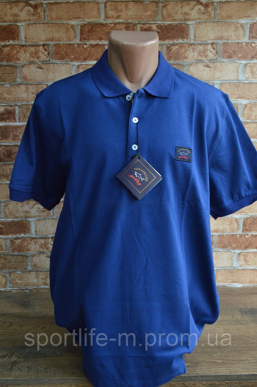 5018-Тенниска мужская Paul Shark. Синяя. Трикотаж.