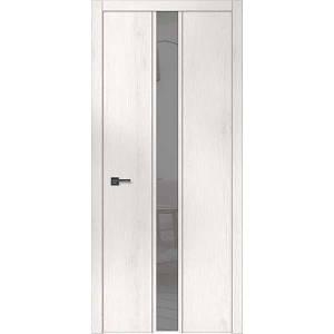 """Межкомнатные двери """"WakeWood"""" Forte plus 04 (одно стекло на просвет. Сатин с непетлевой стороны)"""