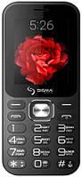 Кнопочный телефон с камерой имощной большой батареей на 2 симки Sigma X-Style 32 Boombox Black