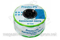 Капельная лента Presto-PS щелевая Blue Line отверстия через 30 см, расход воды 2,7 л/ч, длина 1000м