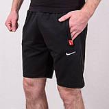 Чоловічі трикотажні шорти NIKE, чорного кольору, фото 3