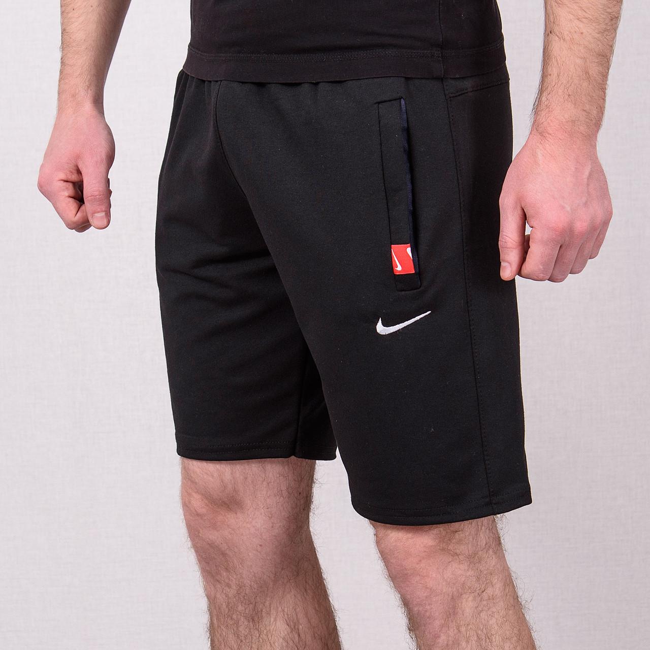 Чоловічі трикотажні шорти NIKE, чорного кольору