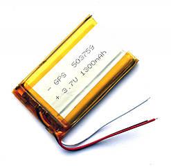 Аккумулятор литий-полимерный Azimuth 3,7V 1300mAh 3pin (60 х 37 х 5 мм)
