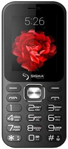 Кнопочный телефон черный с мп3 и блютузом на 2 сим карты Sigma X-Style 32 Boombox Black