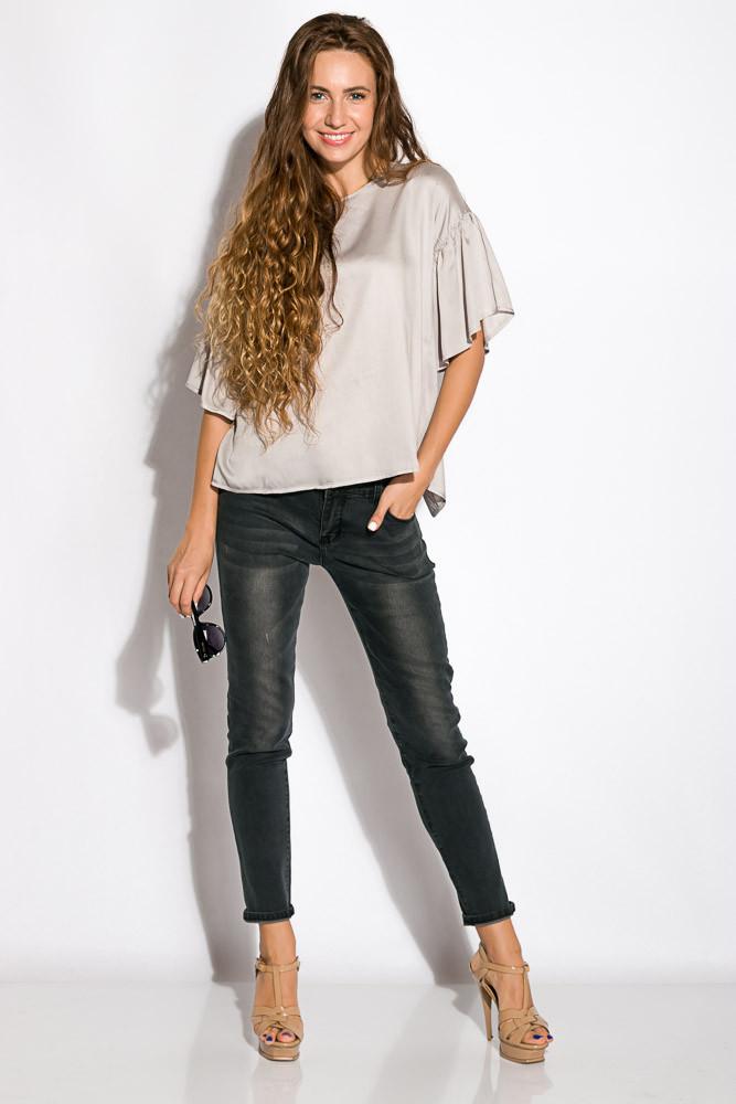 Блуза женская свободного покроя 118P154 (Стальной)