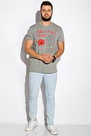 Футболка с принтом на груди 516F505 (Серый), фото 1
