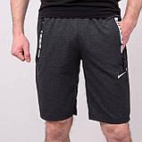 Чоловічі трикотажні шорти NIKE, темно-сірого кольору, фото 2
