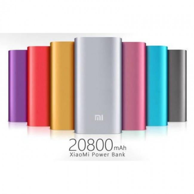 Мощный Power Bank Xiaomi Mi 20800 mAh LCD металл