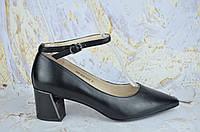 Кожаные женские туфли на маленьком каблуке Asttaly