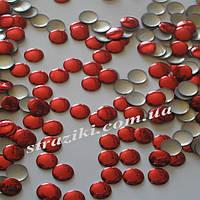 6мм металостразы красные 100шт (Термоклеевые стразы металл)