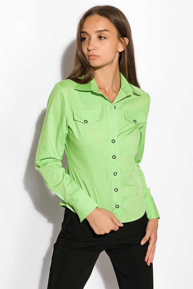 Рубашка женская с длинным рукавом 118P082 (Салатовый)