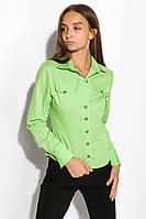 Рубашка женская с длинным рукавом 118P082 (Салатовый), фото 1
