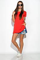 Туника хлопковая женская 317F053 (Красный), фото 1