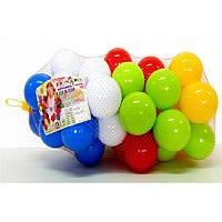 Разноцветные мягкие шарики для сухого бассейна  40 штук